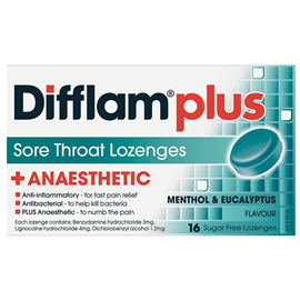 Difflam PLUS Menthol And Eucalyptus 16 Lozenges